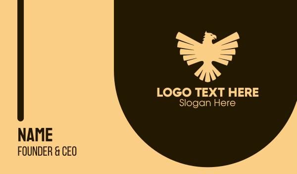 german - Golden Luxurious Eagle Crest Business card horizontal design