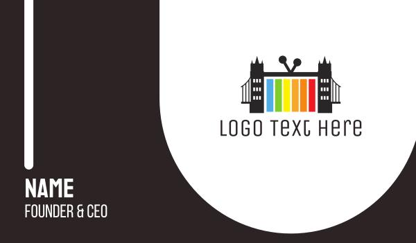 iptv - London Bridge TV  Business card horizontal design