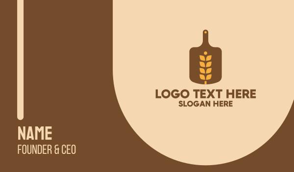 grain - Wheat Bread Board  Business card horizontal design