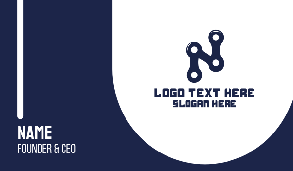 cyclist - Mechanical Letter N Business card horizontal design