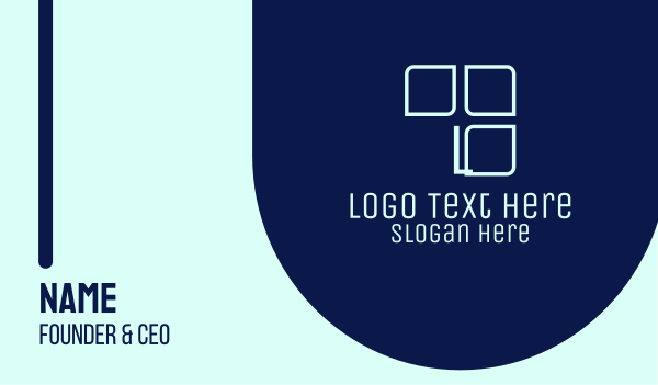 panel - Tech Panel Lettermark  Business card horizontal design