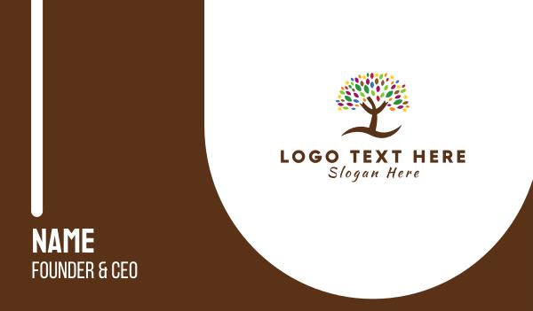 tree - Stars & Leaves Business card horizontal design