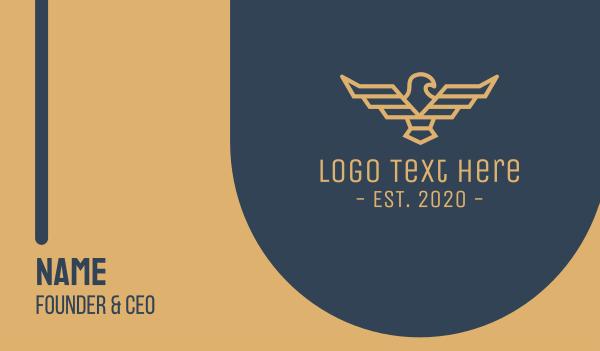 sigil - Pilot Eagle Crest Business card horizontal design