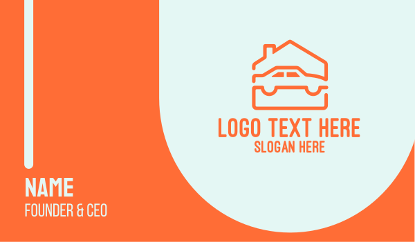 home service - House Car Garage Business card horizontal design