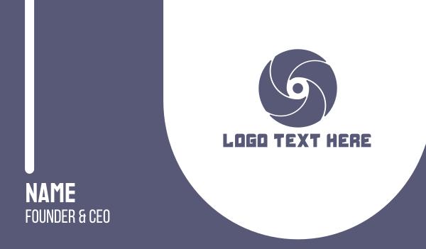 turbine - Turbine Letter O Business card horizontal design