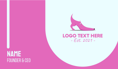 Pink Shoe Dog Business Card