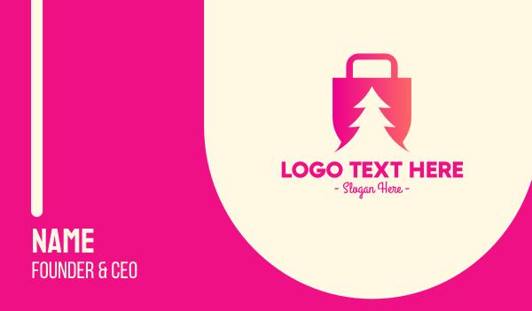 gifts - Pine Tree Shopping  Business card horizontal design