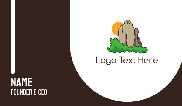 tibet - House Mountain Retreat Business card horizontal design