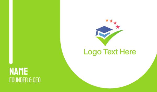 online education - Graduation Hat Business card horizontal design