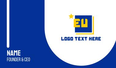 EU Europe Business Card