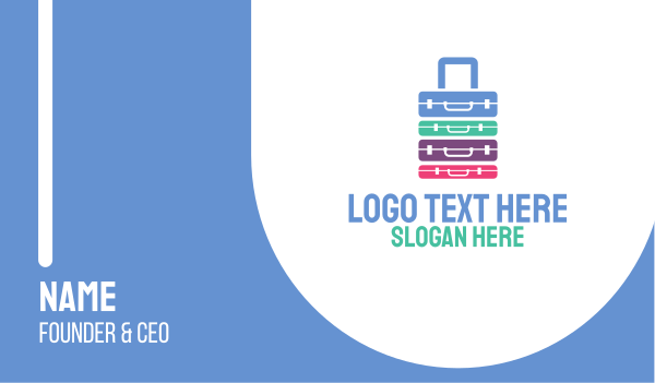 traveller - Excess Baggage Business card horizontal design