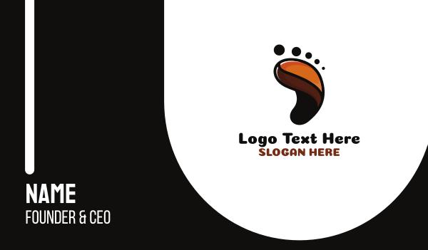 feet - Coffee Foot Print Business card horizontal design