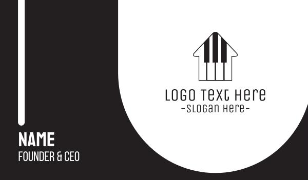 keyboard - Piano House Business card horizontal design