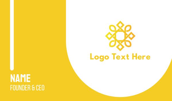 gold star - Geometric Golden Sun Business card horizontal design