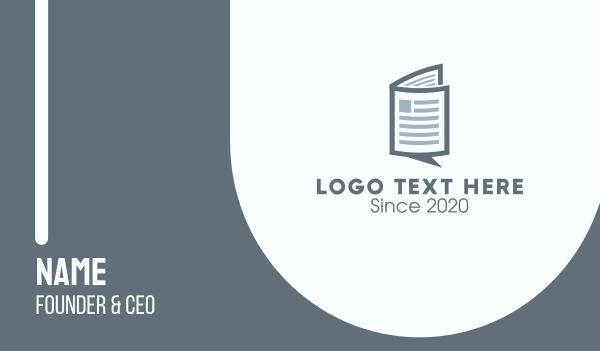 manual - News Chat  Business card horizontal design