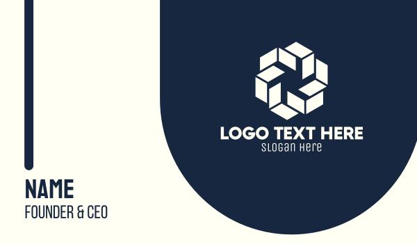 staffing-agency - White Geometric Shape Business card horizontal design