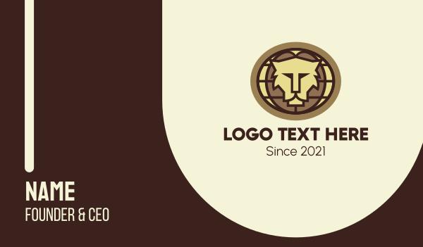 safari park - Global Lion Conservation Business card horizontal design