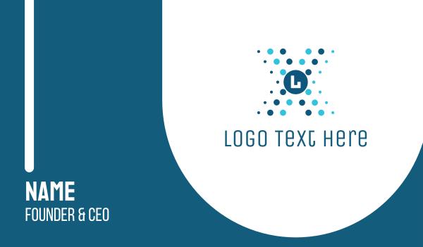 cell - Futuristic Lettermark Business card horizontal design