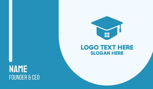online classes - Academy Learning Graduate School Business card horizontal design