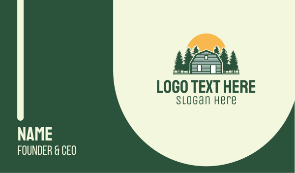 province - Barn House Forest  Business card horizontal design