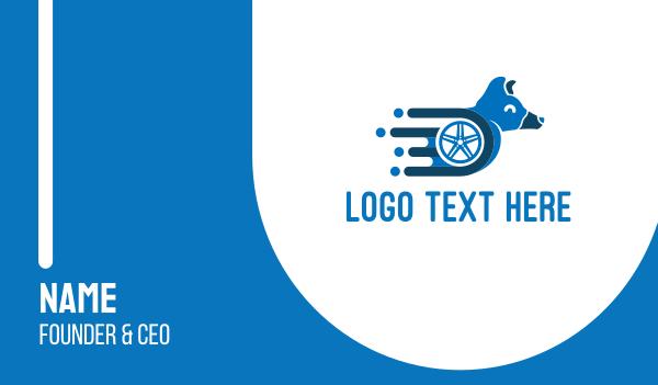tire - Dog Wheelchair Business card horizontal design