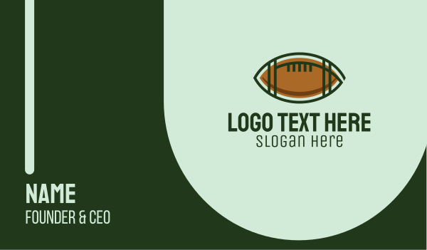 football equipment - American Football Training Business card horizontal design