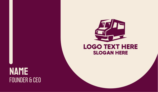 transport service - Van Rental Company  Business card horizontal design