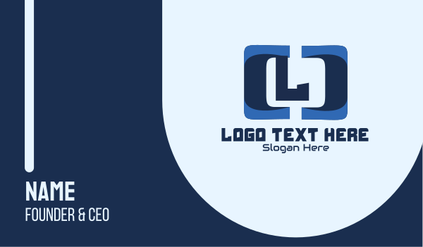app development - Technology Code Lettermark Business card horizontal design