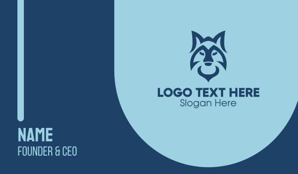 nocturnal - Wild Blue Fox  Business card horizontal design