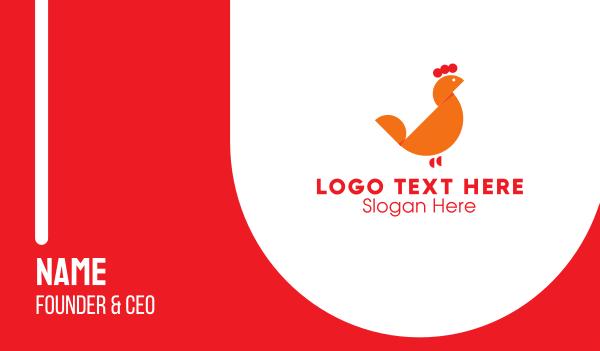 chicken farm - Orange Chicken Business card horizontal design