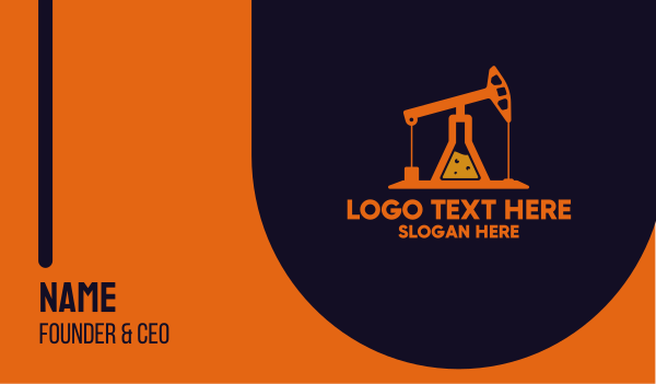 fuel - Oil Lab Business card horizontal design
