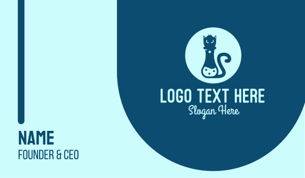 experimental - Feline Lab Business card horizontal design