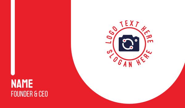 digital camera - Digital Camera  Business card horizontal design