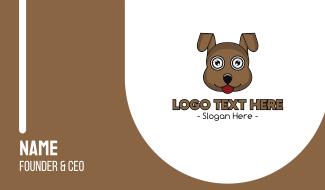 Brown Loyal Dog Business Card