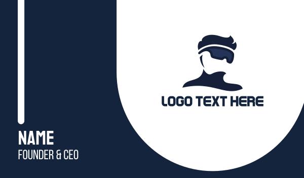 5d - Modern VR Pro Business card horizontal design