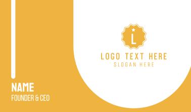 Premium Badge Letter Business Card