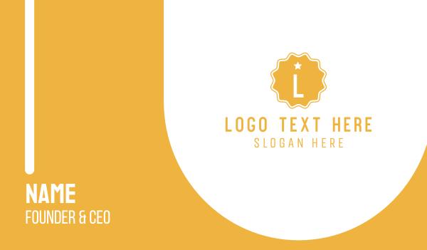 patchwork - Premium Badge Letter Business card horizontal design