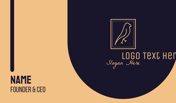 beige - Bird Sanctuary Emblem Business card horizontal design