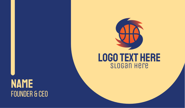 sports channel - Basketball Hurricane  Business card horizontal design