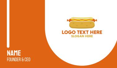 Hot Dog Bun Business Card