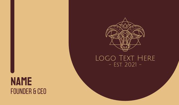 occult - Occult Goat Symbols Business card horizontal design