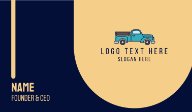 Pickup Utility Truck Business Card
