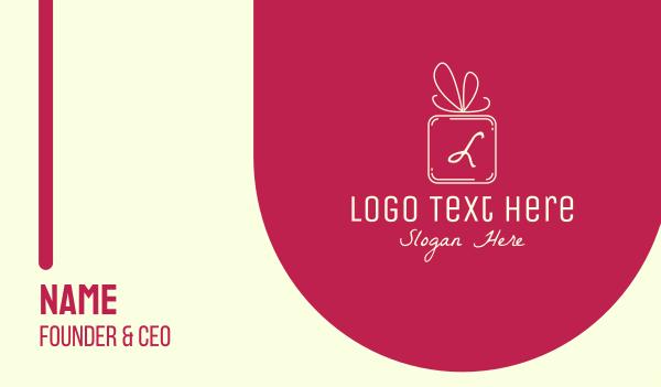 bonus - Holiday Gift Lettermark Business card horizontal design