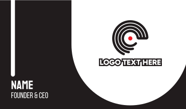 Disc Outline C Business Card