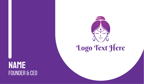 mom - Indian Woman Business card horizontal design