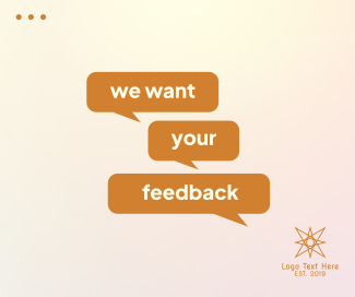 We Want Your Feedback Facebook post