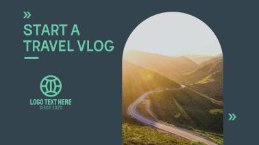 Travel Vlog Facebook event cover