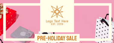 Pre Holiday Sale Facebook cover