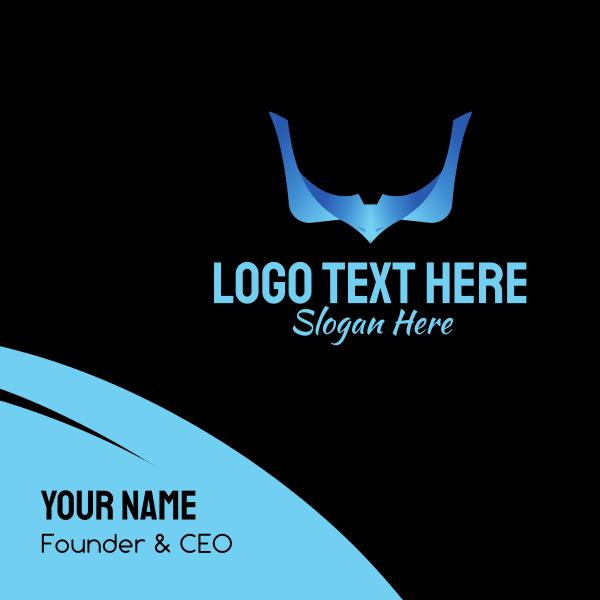 Letter V Eagle Tech Business Card