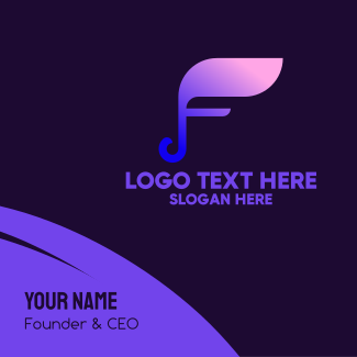 Musical Note Letter F Business Card